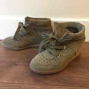 Isabel Marant - Bobby suede wedge sneakers